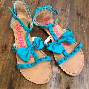 Betsey Johnson Betseyville T-strap bow sandals